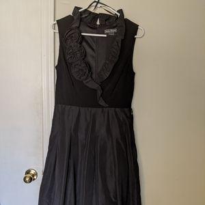 Black dress w/ flower detail